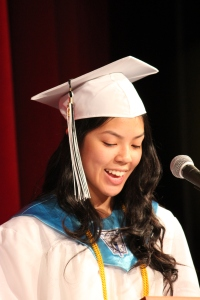 Salutatorian, Misa Nguyen, speaking at CRB Graduation 2013